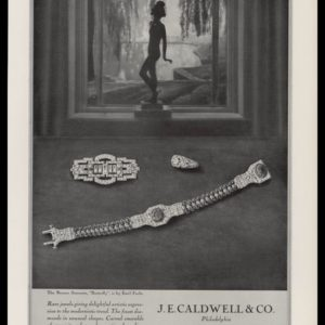 1928 J.E. Caldwell & Co. Vintage Ad | Art Deco Jewelry