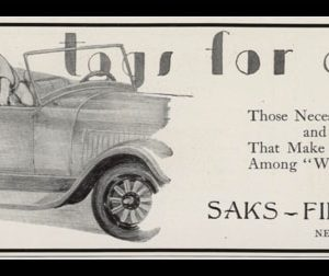 1928 Saks Fifth Ave Vintage Ad | Tags for Dogs