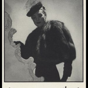 1938 S. Harra Fur Co. Vintage Ad | Fur Bolero
