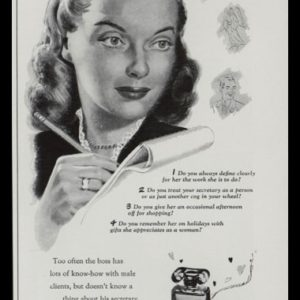 1947 Ad Adrian Sinner and Saint Perfumes | Secretary Art