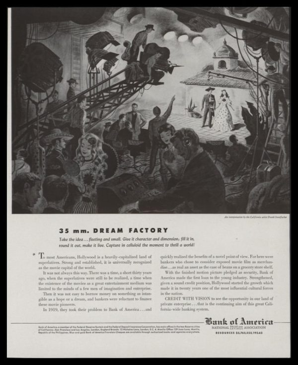 1947 Bank of America Vintage Ad | 35 mm. Dream Factory