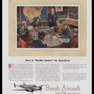 1947 Beech Aircraft Vintage Ad | Psychic Income