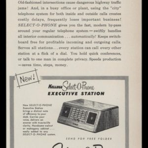 1953 Ad Kellogg Select-O-Phone Executive Station