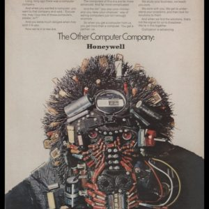 1969 Honeywell Computers Vintage Ad - Electronic Parts Gorilla Sculpture