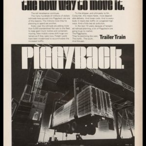 1969 Trailer Train (TTX) Vintage Ad | Piggyback