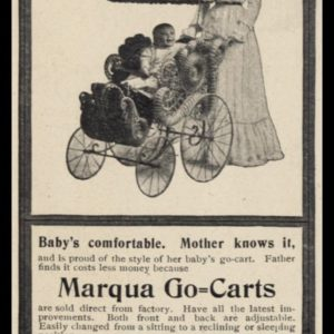 1902 Marqua Go-Carts Vintage Ad | Baby Carriage