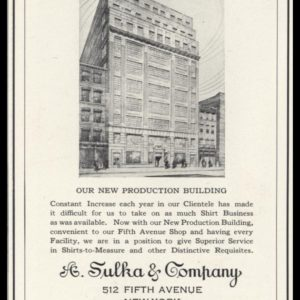 1926 A. Sulka & Company Shirt-Makers Vintage Ad
