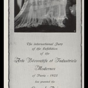 1926 Ad Piatti Shawls   Arts Décoratifs et Industriels Award
