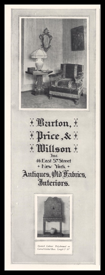 1928 Barton, Price, & Wilson Inc. Vintage Ad | Antiques