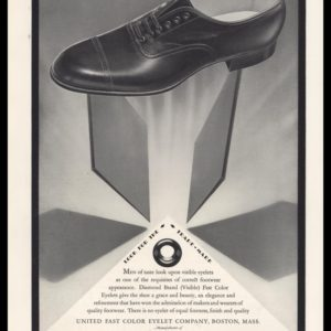 1928 Diamond Brand Color Shoe Eyelets Vintage Ad