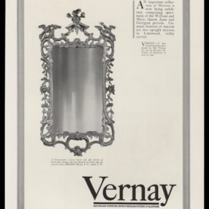 1928 Vernay Vintage Ad | Chippendale Mirror