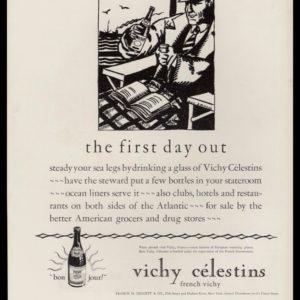 1928 Vichy Célestins Vintage Ad | Guy Arnoux Art