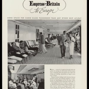 1936 Ad Canadian Pacific Line | Empress of Britain