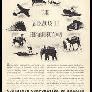 "1936 Container Corporation of America Vintage Ad - ""Miracle of Distribution"""