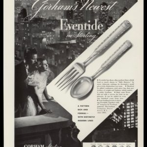 1936 Ad Gorham Eventide Sterling | NYC Night Photo