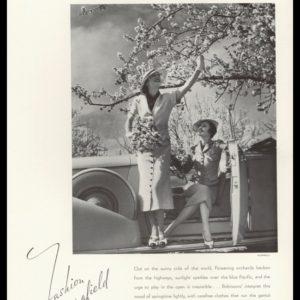 1936 J.W. Robinson Co. Vintage Ad   George Hurrell Photo