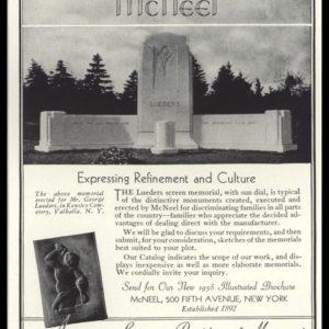 1936 McNeel Monuments Vintage Ad