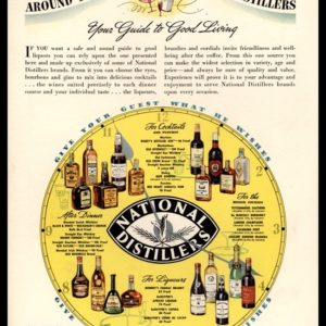 1936 National Distillers Vintage Ad | Guide to Good Living