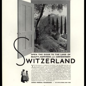 1936 Swiss Federal Railroads Vintage Ad | Open Door