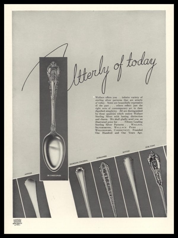 1936 Ad Wallace Sterling | Sir Christopher, Rose Point