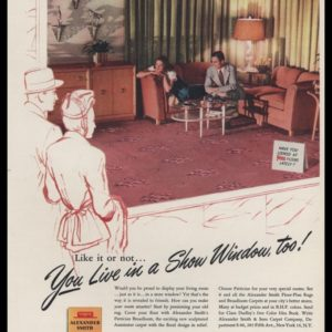 1947 Alexander Smith & Sons Carpet Co. Vintage Ad