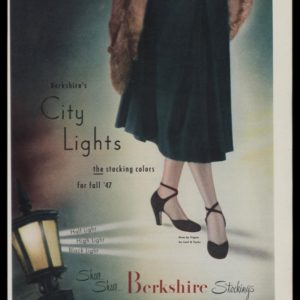 1947 Berkshire Stockings Vintage Ad | City Lights