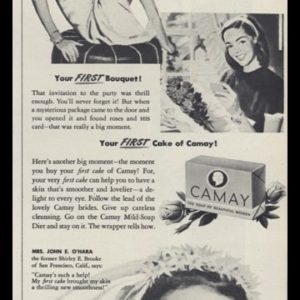 1947 Camay Soap Vintage Ad | Big Moments!