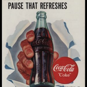 "1947 Coca Cola ""Coke"" Vintage Ad 