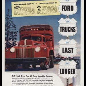 1947 Ford Trucks Vintage Ad | Ford Trucks Last Longer