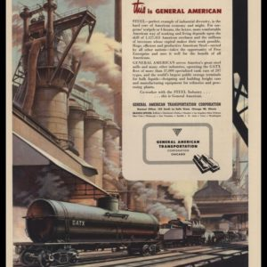 1947 GATX General American Transportation Vintage Ad - Train Art