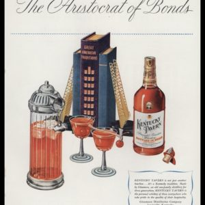 1947 Ad Kentucky Tavern Bourbon Vintage | Fireman Bar Set
