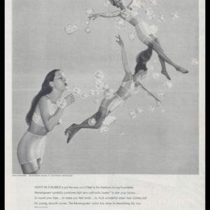 "1947 Munsingwear Foundette & Bra Vintage Ad - ""Light as a Bubble"""