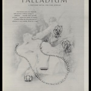 1947 Palladium Jewelry Vintage Ad | Angel Art