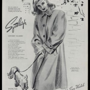 """1947 Sportleigh """"Covert Classic"""" Coat Vintage Ad"""