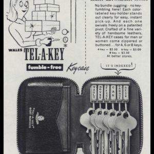 1947 Tel-a-Key Key Case Vintage Ad