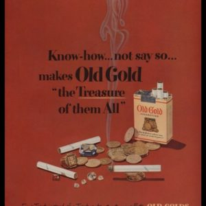 1948 Old Gold Cigarettes Vintage Ad | Treasure
