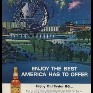 1964 Old Taylor 86 Bourbon Vintage Ad | 1964 World's Fair