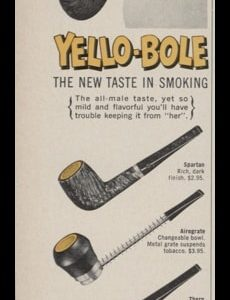 1966 Yello-Bole Pipes Vintage Ad | For Men Only