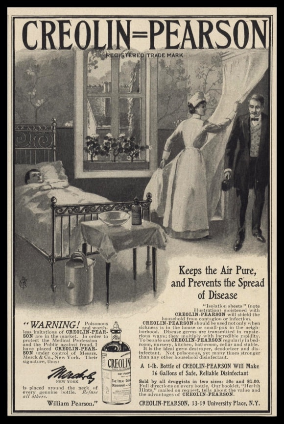 1902 Creolin-Pearson Vintage Ad | Disinfectant