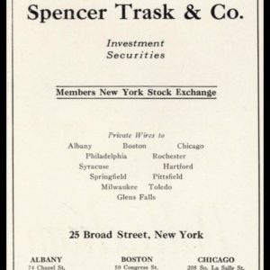 1926 Ad Spencer Trask & Co. | Investment Securities