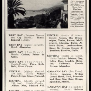 "1928 Menton-French Riviera Travel Vintage Print Ad - ""Pearl of the Riviera"""
