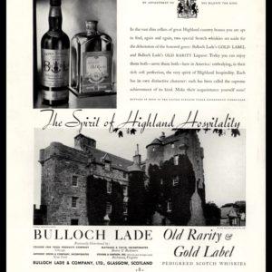 1935 Ad Bulloch Lade Scotch | Highland Hospitality