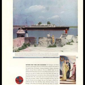 1935 Grace Line Vintage Ad   Bocachica Channel