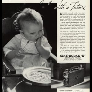 "1935 Kodak Movie Camera Vintage Ad | Cinè-Kodak ""K"""