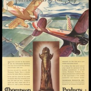 "1935 Ad Thompson Products | ""Indianapolis of the Sky"""