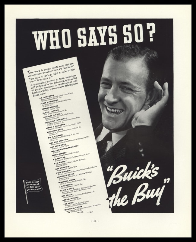 "1936 Buick Vintage Ad - ""Buick's the Buy"""