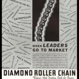 1936 Diamond Roller Chain Vintage Ad | Business Leaders
