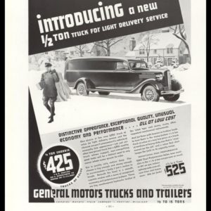 1936 General Motors (GMC) ½ Ton Delivery Truck Vintage Ad
