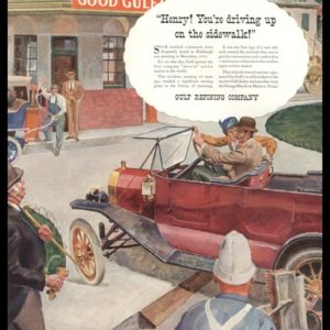 1936 Gulf Refining Co. Vintage Ad | Drive-In Service