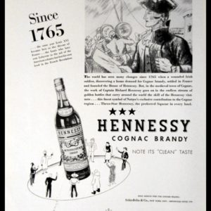 "1936 Hennessy Cognac Vintage Ad | ""Since 1765"""
